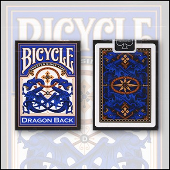 Bicycle Dragon Back Blue Deck
