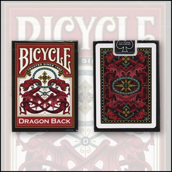Bicycle Dragon Back  Red Deck