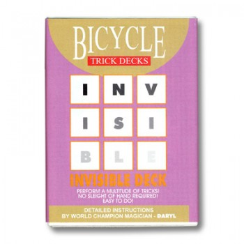 Bicycle Invisible Red Back