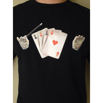 Black T-Shirt 4 Aces