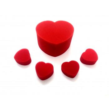Corações de esponja - Rotina com vídeo
